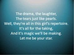 """""""Let Me Be Your Star"""" by Smash (Lyrics included)"""