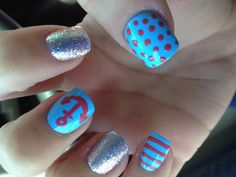 my nails with anchor