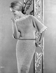 Bear Brand & Fleisher Yarn 1961 - Knit Fashions Book #63    Model Gretchen Harris