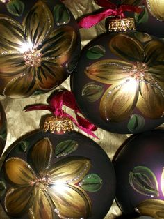 Hand Painted Ornaments by snoworiginals on Etsy
