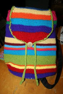 Jantastic Yarns    A backpack I made for my daughter using this pattern as a starting point and modifying a little http://blog.susannawinter.net/backpack