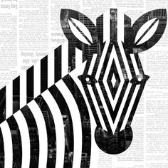 "artchipel:    Scott Partridge | jevajeva on Tumblr - Zebra. Digital, 8""x8""  see also"