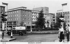 Broadgate, Coventry in the 1950's (I'm assuming, with the old Ford Thames Van). Note the new Owen Owen building and Hotel Leofric