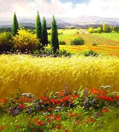 Canvas Painting Oil Painting Landscape Painting by Topfineart