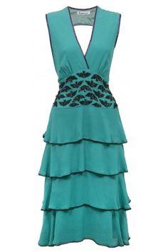 Adelaia Dress, Heavy beadded georgette. Libelula.