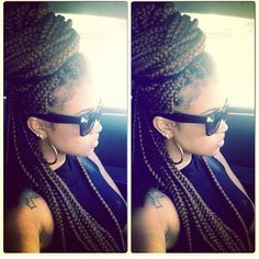 ❤ Protective style: Box braids