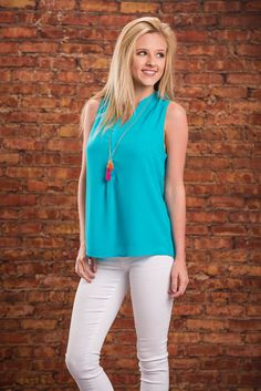 Map Of Love Tank, Aqua || The back of this tank is basically a map that shows you how to get to our love! It may twisting and turning but it's oh so worth it! The aqua color is so gorgeous and bright! Clearly it looks great with white skinnies and but it would also look great with white shorts, dark wash jeans or shorts! Or even some fun printed shorts!