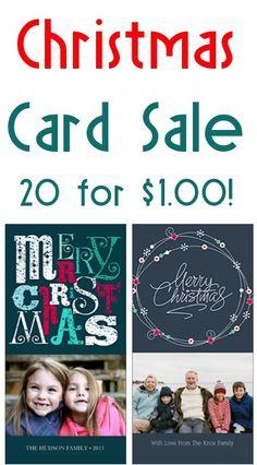 Photo Christmas Card Sale: 20 for $1.00! {+ s/h} @Whitney Clark Clark Alexander Marrs