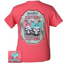 Bjaxx Lilly Paige Preppy Your Born Southern Tea Bow T Shirt