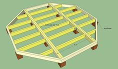 Floating Deck Plans Free Howtospecialist How To Build Step Octagonal Deck Decking Area, Laying Decking, Cool Deck, Diy Deck, Deck Design, Plan Design, Floating Deck Plans, Floating Dock, Floating Stairs