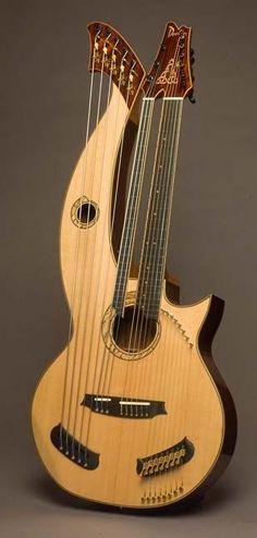 Doolin Guitars, 22-string Double Neck Harp Guitar Confira aqui http://mundodemusicas.com/lojas-instrumentos/ as melhores lojas online de Instrumentos Musicais.