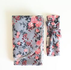 Baby Swaddle Blanket Floral Swaddle and Beanie by finnandolive