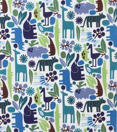 LAMINATED cotton fabric - Zoo Pool blue green by Alexander Henry (choose your length) Fabric Patterns, Print Patterns, Laminated Cotton Fabric, Alexander Henry Fabrics, Stoff Design, Jungle Print, Vinyl Fabric, Wet Bag, How To Make Tshirts