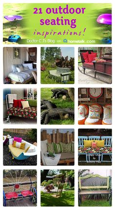 Here are some creative ideas for your outdoor seating!