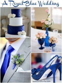 Royal Blue wedding ideas. 8 Wedding Colors for Single Colored Weddings - KnotsVilla