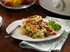 Get this all-star, easy-to-follow Slow Cooker Overnight Breakfast Casserole recipe from Food Network