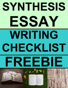 "Synthesis Essay Writing Checklist Guide & Rubric FREE: SYNTHESIS ESSAY WRITING CHECKLIST: Writing prompt & drafting/outlining/editing checklist. Common-core aligned fail-proof ""ACEPAPER"" mnemonic writing checklist to guide student writing. Synthesis Essay Anchor Chart #synthesisessaywriting"