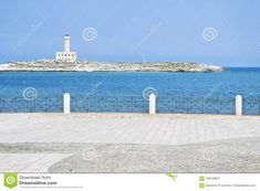 Photo about Lighthouse of vieste, gargano, apulia, italy. For travel and tourism concept - 108159947