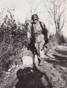 Maj. Gen. James M. Gavin, commander of the 82nd Airborne Division, in Belgium during the Bulge, Dec. 1944.