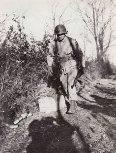 Maj. Gen. James M. Gavin, commander of the 82nd Airborne Division, in Belgium during the Bulge, Dec. 1944
