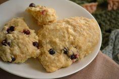 Huckleberry Sour Cream Scones | recipe http://kelliefalconer.blogspot.com/2012/09/from-kitchen-huckleberry-scones.html
