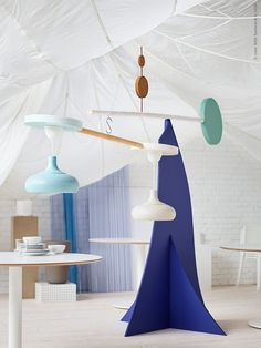 Add some groovy vibes to your space with this new IKEA pendant lamp. Ikea Inspiration, Ikea 2018, Ikea New, Kitchen Lighting Fixtures, Light Fixtures, Ikea Furniture, Elle Decor, Lamp Design, Led Lamp