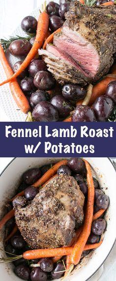 Fennel Lamb Roast wi
