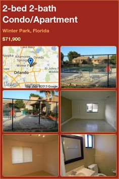 2-bed 2-bath Condo/Apartment in Winter Park, Florida ►$71,900 #PropertyForSale #RealEstate #Florida http://florida-magic.com/properties/1788-condo-apartment-for-sale-in-winter-park-florida-with-2-bedroom-2-bathroom