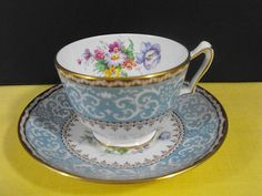 Crown Staffordshire Tea Cup with Saucer