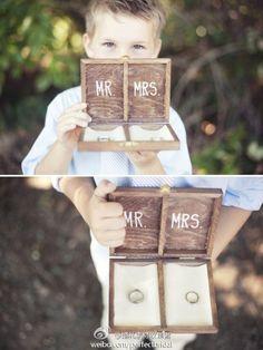 Шкатулка вместо подушечки для обручальных колец - Декор свадьбы
