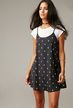 Gypsy Warrior Many Moons Mini Dress | Forever 21 - 2000179631