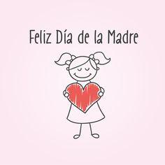 Vector e imagen normal de dibujo infantil sobre el Día de la Madre. Deacarga gratis.