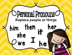"""Free Personal, Possessive, Indefinite, and Reflexive Pronoun Posters for 1st-3rd......Follow for Free """"too-neat-not-to-keep"""" Teaching Tools & other Fun Stuff :)"""