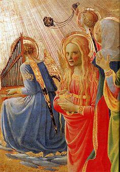 Le couronnement de la Vierge - Détail - Marie-Madeleine et son regard ambigu sous sa chevelure séductrice