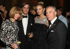 Famous friends: Anna Wintour, Shelby Bryan, Dee Hilfiger and Tommy Hilfiger attend The Novak Djokovic Foundation's inaugural dinner at Capitale ini September 2012 in New York City.