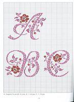 Cross-stitch Alphabets with Flowers, part 1... no color chart use pattern chart as your guide..    Gallery.ru / Photo # 13 - Belles Lettres au point de croix - moimeme1