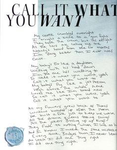 i learned a lot from ethel kennedy — tswiftly: Handwritten lyrics from Reputation. Taylor Swift Song Lyrics, Taylor Swift Quotes, Taylor Swift Songs, Taylor Swift Pictures, Taylor Alison Swift, Taylor Taylor, Live Taylor, Song Lyric Quotes, Music Lyrics