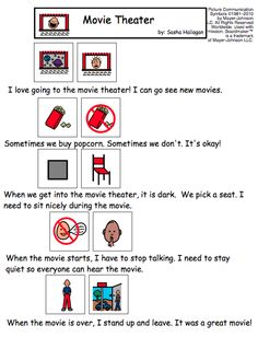 Visual Social Story for Children with Autism - Movie Theater
