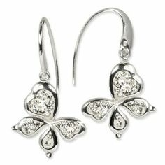 SilberDream Glitter Earring Swarowski Elements black, 925 Sterling Silver GSO207 SilberDream Tinsel. Save 24 Off!. $37.45