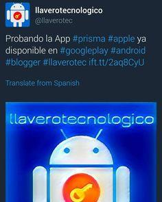 Me llegó la activación del #ModoNocturno #nightmode #twitter #llaverotec #blogger #google #prisma