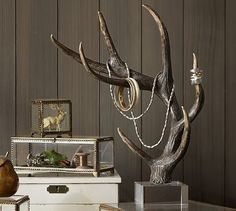 Faux Antler Jewelry Tree #potterybarn
