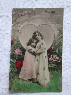 Beautiful Little Girls, Beautiful Children, Photo Postcards, Vintage Postcards, Canyon Colorado, Girls Hand, Antique Photos, Rose, Antiques