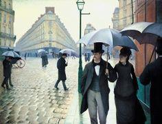 Jour de pluie à Paris. Gustave Caillebote. Pintor y mecenas de artistas impresionistas