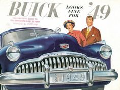 "CARS Advertising Illustration - ""Buick looks fine for"