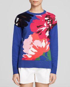 kate spade new york Spring Blooms Intarsia Sweater - Bloomingdale's Exclusive