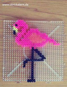 Bügelperlen Flamingo – Hama beads flamingo - Best DIY and Crafts 2019 Perler Bead Designs, Hama Beads Design, Diy Perler Beads, Perler Bead Art, Pearler Beads, Fuse Beads, Melty Bead Patterns, Pearler Bead Patterns, Perler Patterns