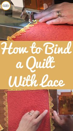 Heather Thomas teaches you how to make quilt binding with lace binding in this video. Quilting Board, Quilting Tips, Quilting Tutorials, Quilting Designs, Sewing Tutorials, Sewing Tips, Sewing Ideas, Beginner Quilting, Quilting Frames