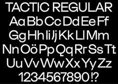 dailydesigner: Tactic Regular by Antoine Elsensohn