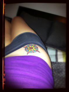 My Tattoo!!!!   <3  #tattoo #compass #rosadelosvientos  #nauticalchart #colorconspiracypr #girlytattoo rosa de los vientos.