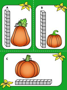 Activity - Measurement Math Center (FREE) *** FREE *** Fall Pumpkin Measurement Math Center >> Measure the height and width of pumpkins using units and record the answer on the worksheet.Pumpkin (disambiguation) Pumpkin is a large orange squash fruit of t Fall Preschool Activities, Preschool Math, Math Classroom, Kindergarten Math, Teaching Math, Teaching Resources, Maths, Classroom Ideas, Teaching Ideas